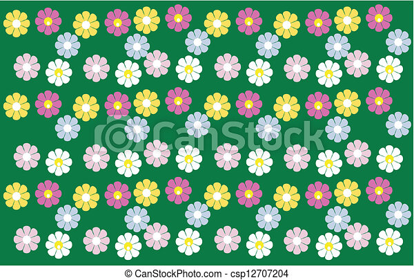 Floral seamless background - csp12707204