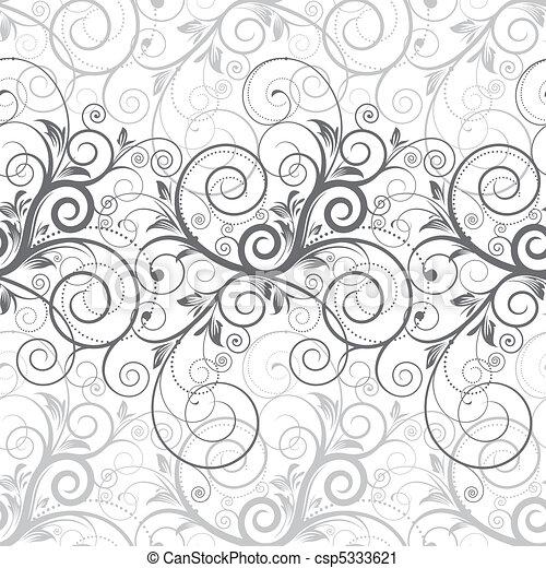 Floral sin costura - csp5333621