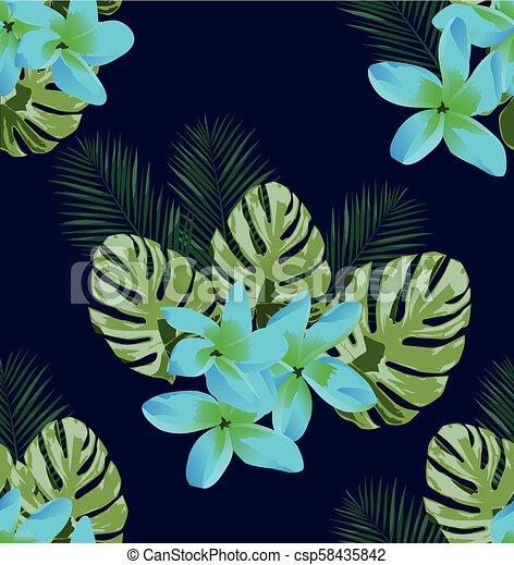Floral sin costura - csp58435842