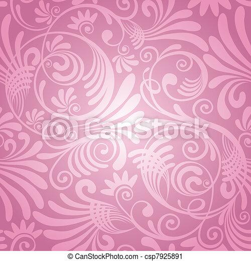 floral, seamless, fundo - csp7925891