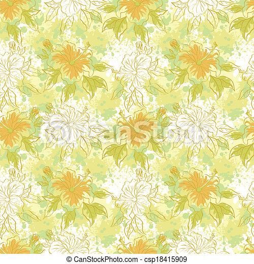 floral, seamless, fundo - csp18415909