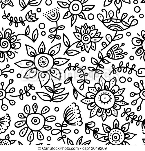 Floral seamless pattern  - csp12049209