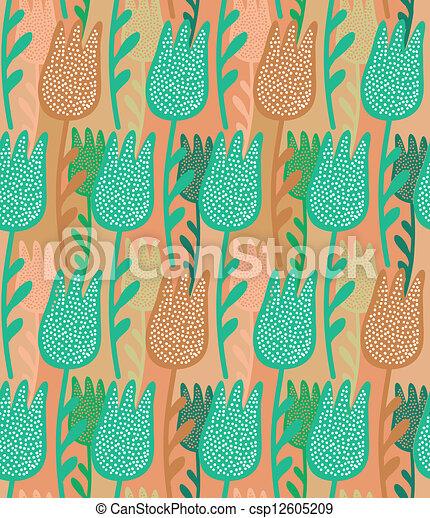 floral seamless pattern - csp12605209
