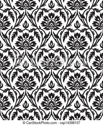 Floral seamless pattern - csp14398107