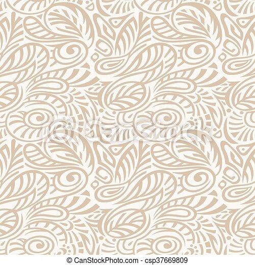 Floral Seamless Pattern - csp37669809