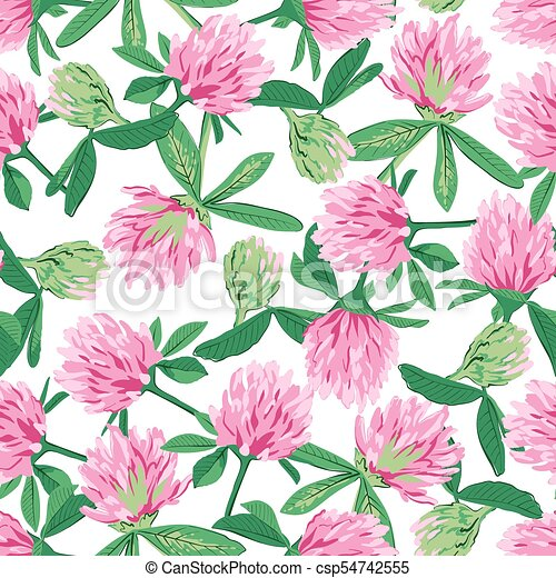 Floral seamless pattern with red clover floral seamless pattern floral seamless pattern with red clover csp54742555 mightylinksfo