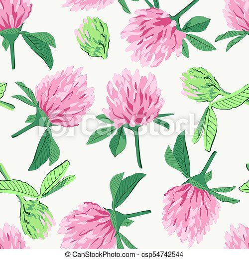Floral seamless pattern with red clover floral seamless pattern floral seamless pattern with red clover csp54742544 mightylinksfo