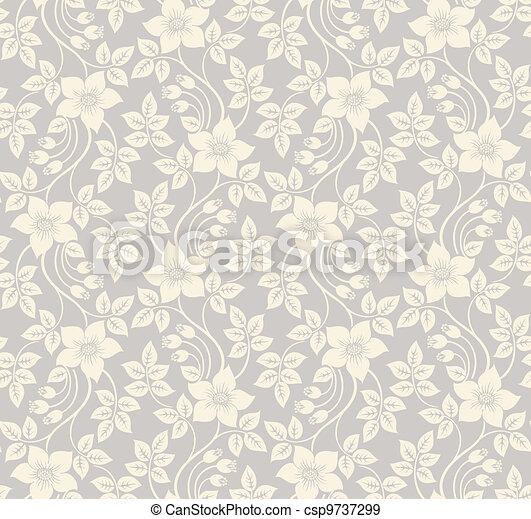 Antecedentes florales sin costura - csp9737299