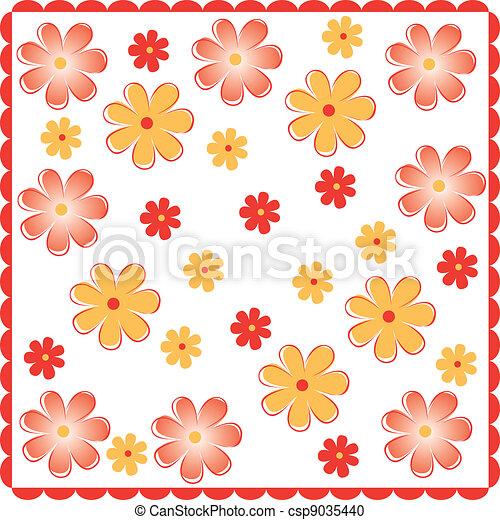 floral spring background - csp9035440