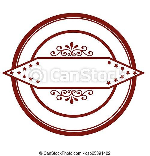 Floral stamp - csp25391422