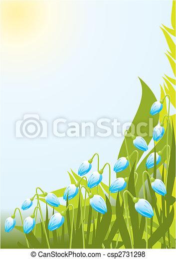 Floral sun background - csp2731298
