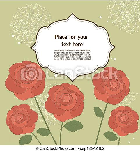 Una tarjeta de felicitación floral - csp12242462