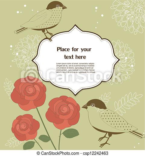 Tarjeta de felicitación floral - csp12242463