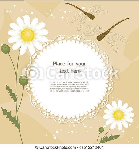 Tarjeta de felicitación floral - csp12242464