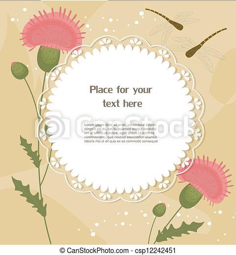 Una tarjeta de felicitación floral - csp12242451