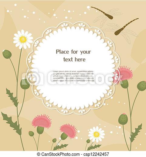 Tarjeta de felicitación floral - csp12242457