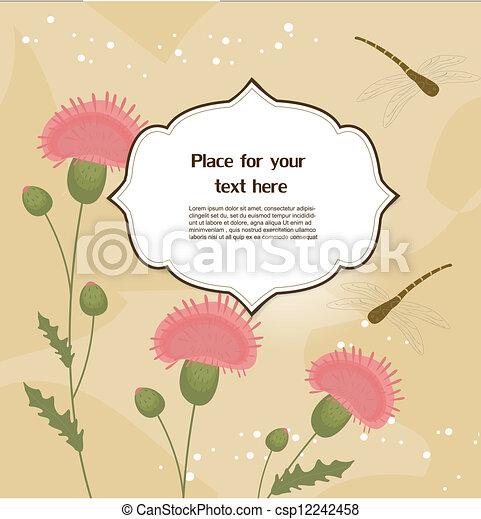 Tarjeta de felicitación floral - csp12242458