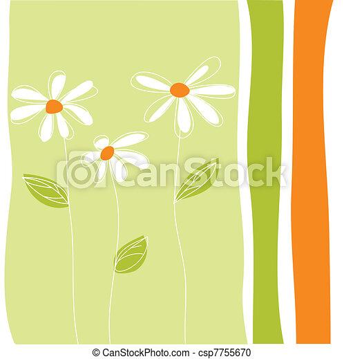 Tarjeta de felicitación floral - csp7755670