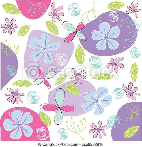 Tarjeta de felicitación floral - csp9262910