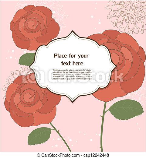 Tarjeta de felicitación floral - csp12242448