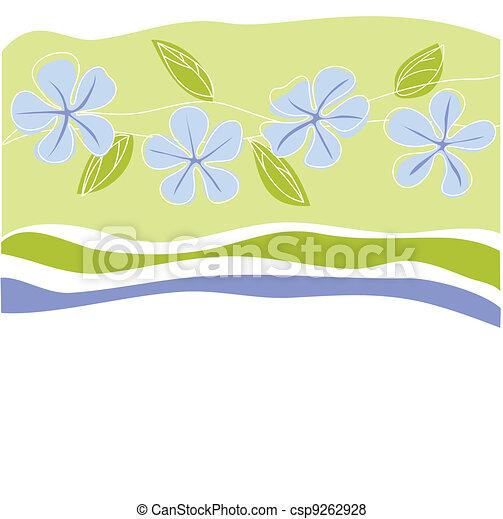 Tarjeta de felicitación floral - csp9262928