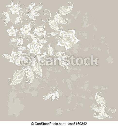 Tarjeta de felicitación floral - csp6169342