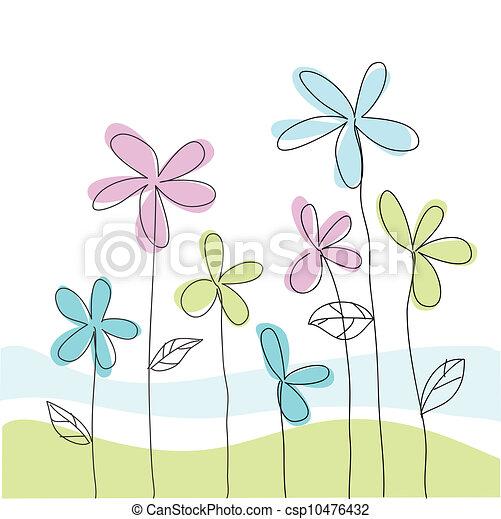 Tarjeta de felicitación floral - csp10476432