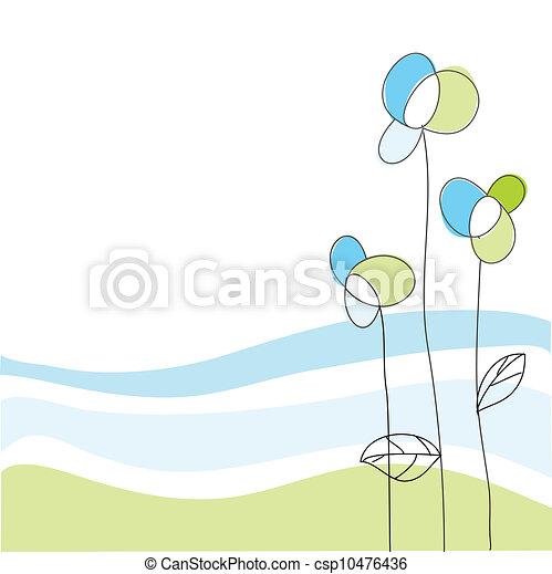 Tarjeta de felicitación floral - csp10476436