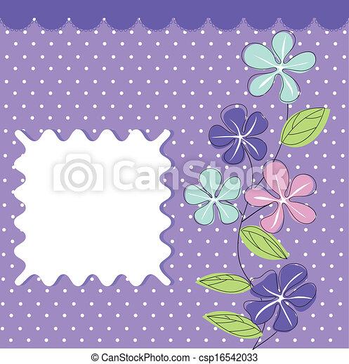 Tarjeta de felicitación floral - csp16542033