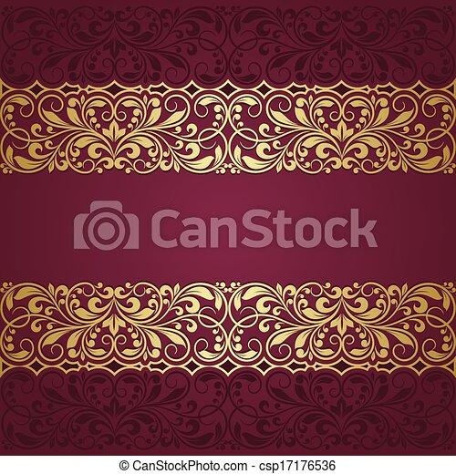 Tarjeta de felicitación floral - csp17176536