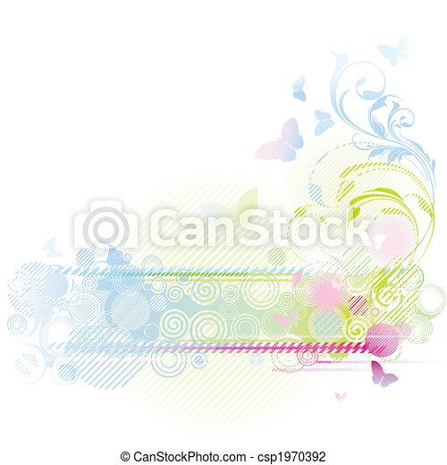 floral tervezés, háttér - csp1970392