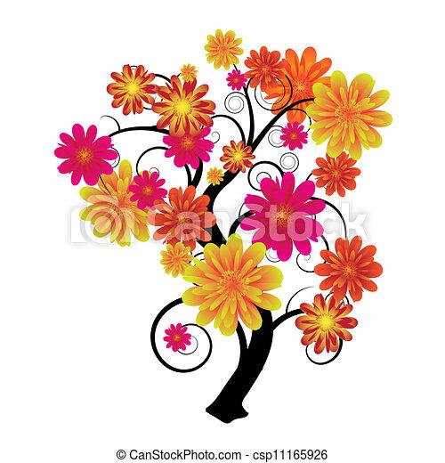 Floral tree - csp11165926