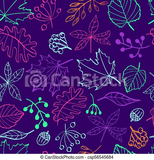 Floral Tropical Background In Neon Colors