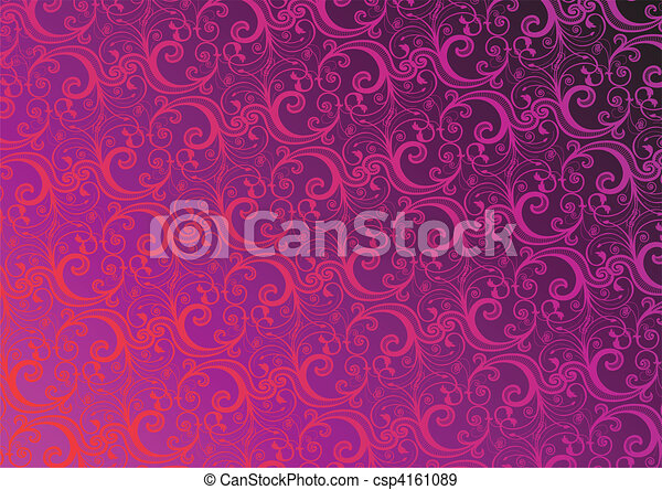 floral, vecteur, papier peint - csp4161089