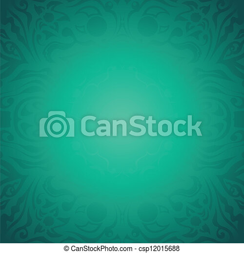 Floral vector background - csp12015688