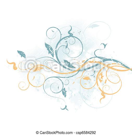 Floral vector background - csp6584292