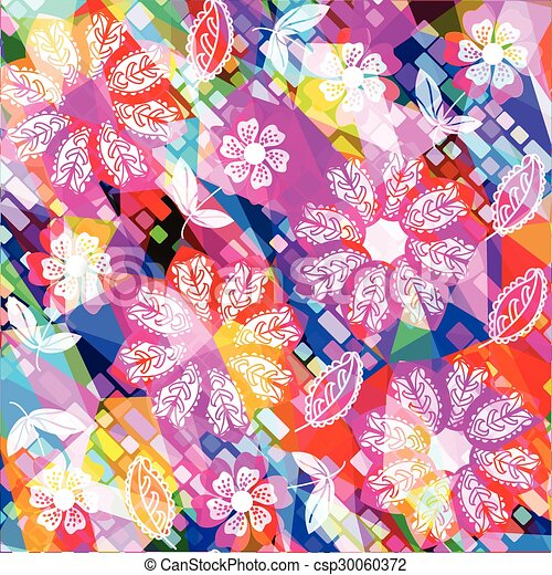Floral vector background  - csp30060372