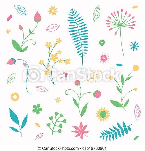 Floral Vector Design Elements - csp19780901