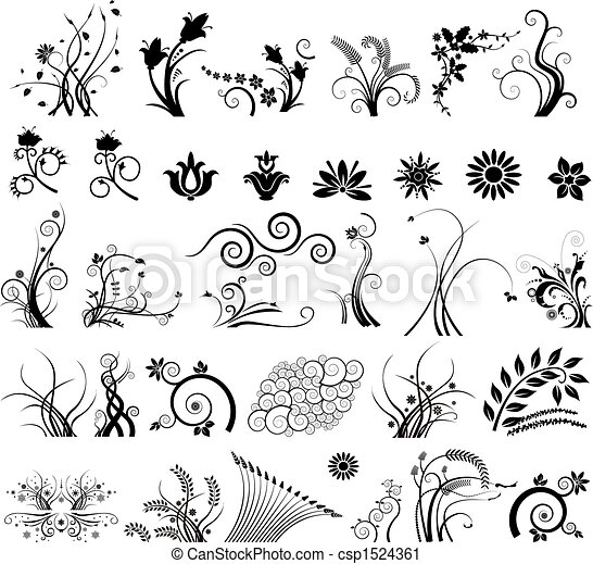 Floral vector elements  - csp1524361