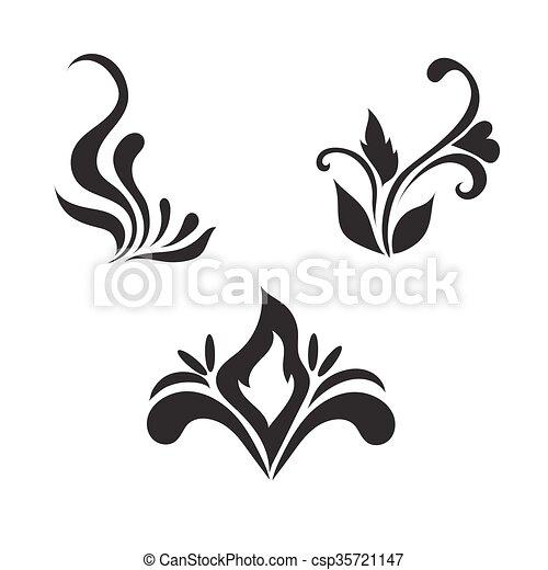 Floral vector elements, vector  - csp35721147