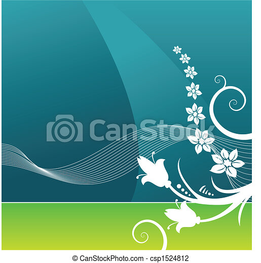 Trasfondo de vectores grunge floral - csp1524812