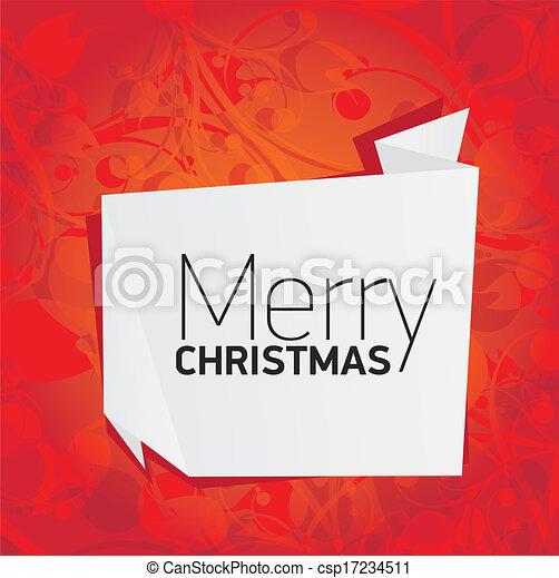 Trasfondo floral rojo de la Navidad Vector - csp17234511