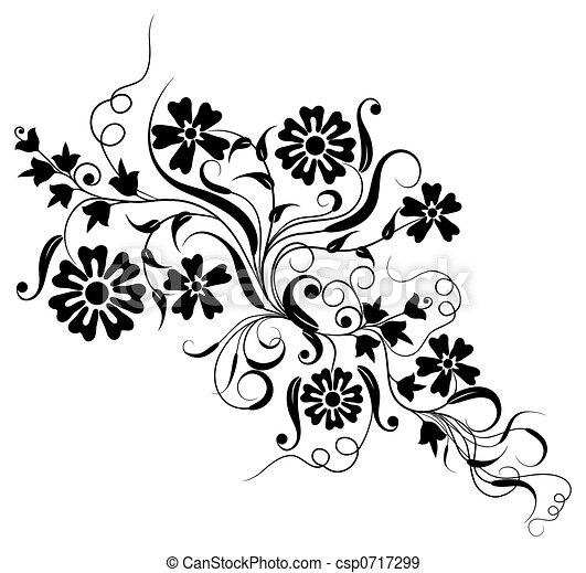 floral, vector, ontwerp, element - csp0717299