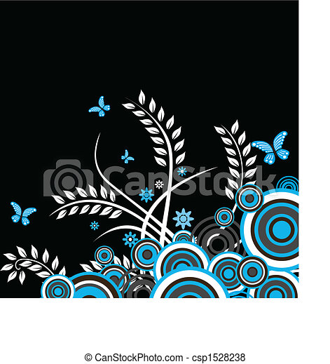 Trasfondo vectorial floral - csp1528238