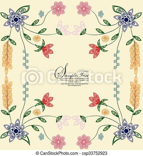 Ilustración de vectores, antecedentes florales - csp33752923