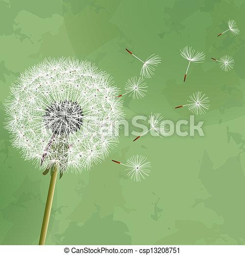 floral, vendange, fond, pissenlit - csp13208751