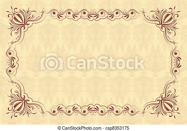 Un marco floral de vinagre - csp8353175