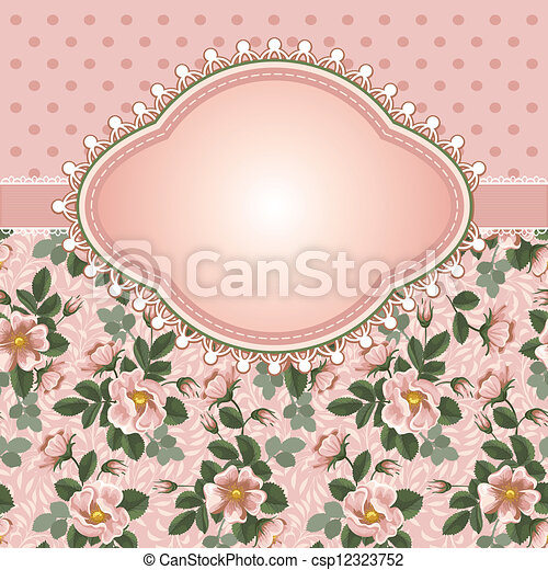 floral, vendimia, plano de fondo - csp12323752