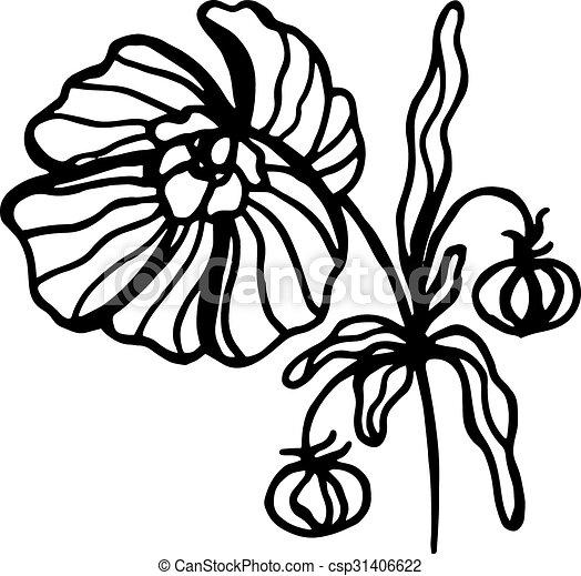 floral, vendimia, plano de fondo, flower., patrón - csp31406622