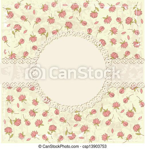 Floral vintage background - csp13903753